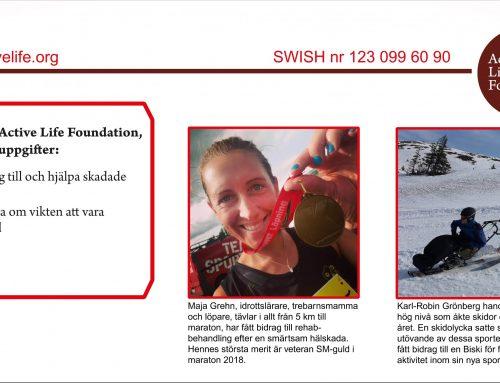 Active Life riktar varmt tack till Larsson Offsettryck i Linköping